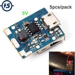 5 pcs 5 V Step-Up Modulo di Alimentazione Al Litio di Carica Della Batteria Protezione Bordo Bordo di Protezione Boost Converter Display A LED USB Per FAI DA TE Charger 134N3P