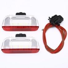 2X высокое Яркость светодиодный Боковая дверь любезно светло-красный + белый лампа для V-W G-олф J-Этта P-эссет B6 B7 GT-I MK-5 T-iguan T-ouareg