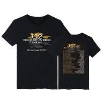 Band U2 Printing Cotton Men Tee Shirt With Short Sleeve And U2 Rock Band Logo Women