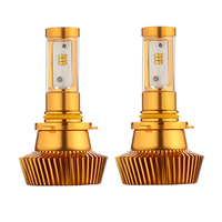 Pair 80W 9600LM Car LED ZES Chips Headlight bulbs 6000K 3000K Two Color in one bulb 9006 HB4 Auto Conversion kit headlamp