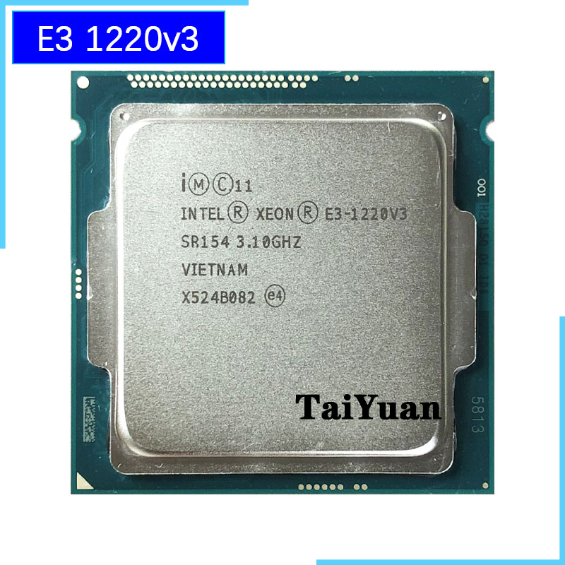 Intel Xeon E3-1220 V3 CPU 4-Core 3.1GHz 8M LGA 1150 SR154 80W Processor