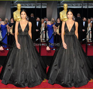 GLAMOROUSQUEEN Sexy Deep Black Oscars Gown Carpet Dresses