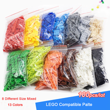 100pcs/lot Construction Building Blocks Set Children Birkcs Parts Mix 8 Size DIY Model Building Figure Eduational Toys For Kids