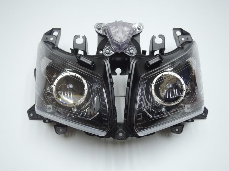 TMAX 530 2012 2013 2014 Front Headlight Head Light  Headlamp For Yamaha T-MAX530 TMAX530 2012 2013 2014 Clear (2)