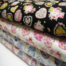 So Pretty, 4 цвета, цветочный принт, сердечки, хлопок, поплин, ткань для квилтинга, детское постельное тильда, Лоскутная Ткань для шитья