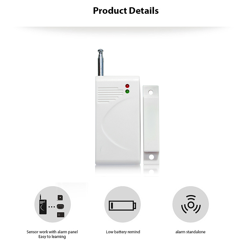 Wireless Smart Long Distance Door Sensor Detector For H6 Home Security Alarm Kits