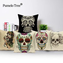 Decorative Cushion Pillowcase Cover Bedroom-Sets Linen Square Living-Room Cotton Couch