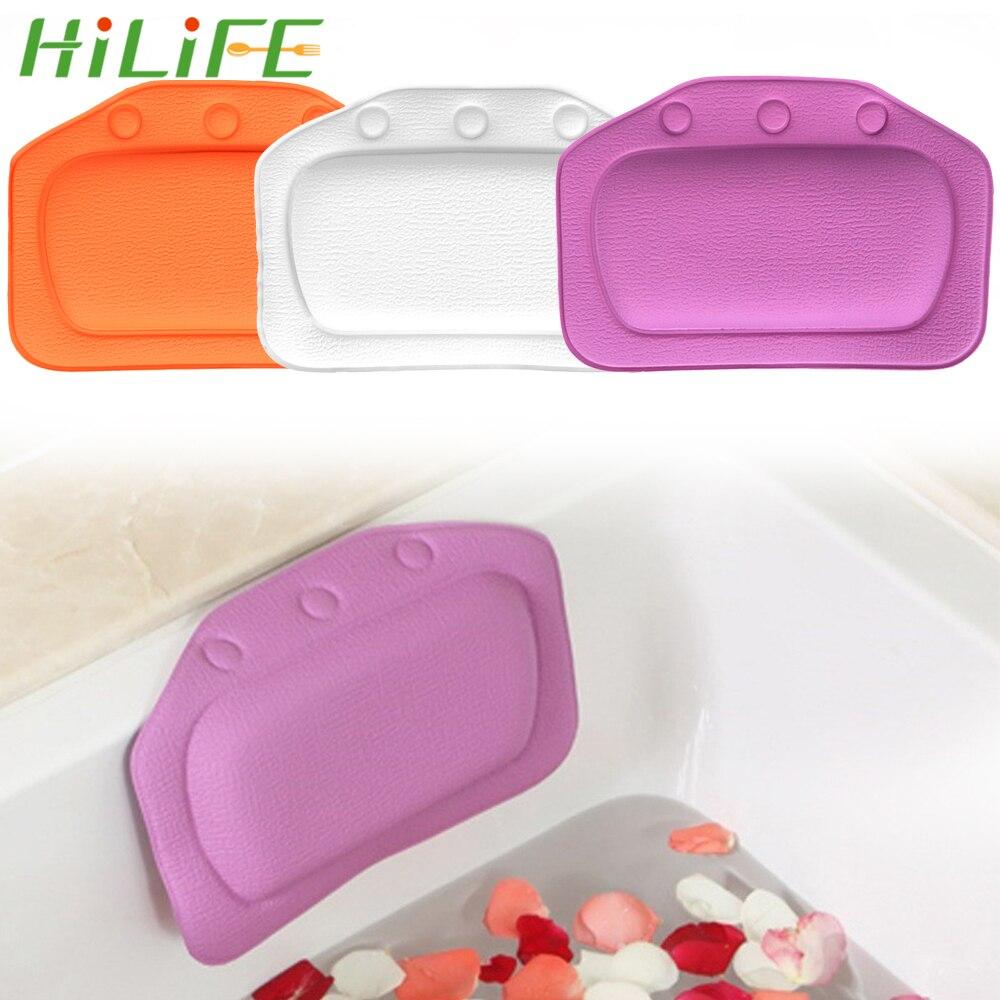 HILIFE 21*31cm Neck Bathtub Cushion Soft Headrest SPA Bath Pillow PVC With Suction Cup Bath Accessories