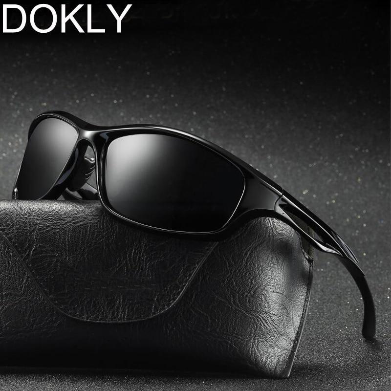 Dokly Polarized Men Sunglasses Men cool Eyewear Brand Designer Driving Oculos De Sol Reflective Coating UV400 Not Send With Bag
