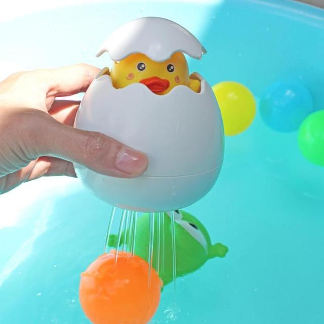 Bath Toys For Children, Bathing Duck Penguin Egg Toys Showering Funny Water FREE Shipping