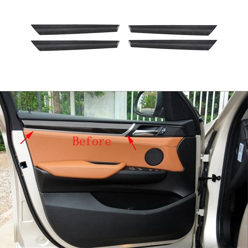 Bmw X4 F26: 4x 100% Real Carbon Fiber Inner Door Panel Strip Cover