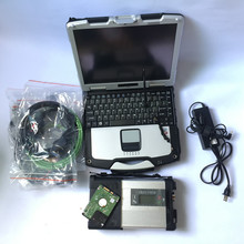 Купить с кэшбэком Super mb star c5 MB C5 with 07/2017 Software HDD Military Laptop CF30 Diagnostic PC for car and truck diagnostic Ready To Use