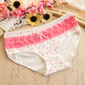 Women Cotton Intimates Menstruation Period Night Use Briefs Cotton Underwear Lace Physiological Briefs Panties Low Waist