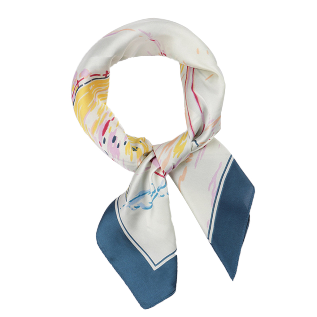 Womens Satin Silk Feeling Formal Square Neck Scarf Head Hair Scarf Wraps