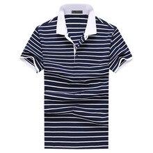 2017  Men's stripe Polo shirts new style Men's leisure fashion polo shirt Men high quality 100% cotton polo shirts