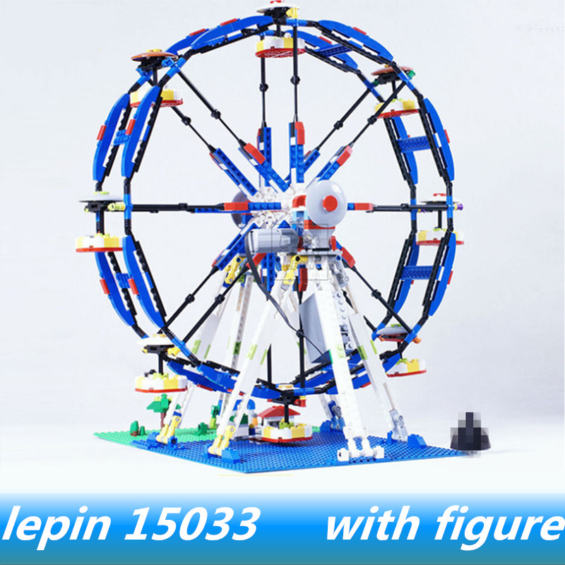 цена Lepin 15033 lepin Classic Series The Three-in-One Electric Ferris Wheel Compatible legoing creator ferris wheel legoing 10247