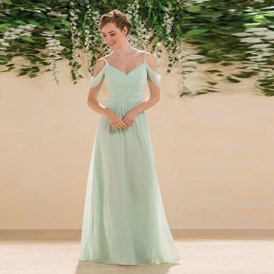 Robe de mariage 2017 chiffon sexy V neck short sleeves aLine sage green bohemian bridesmaid dresses long cheap vestido madrinha