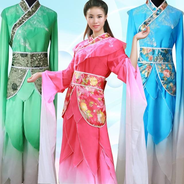 Mujeres fency traje femenino traje de la danza popular chino leyenda de zhen huan tradicional danza dress ropa nacional de la danza 17