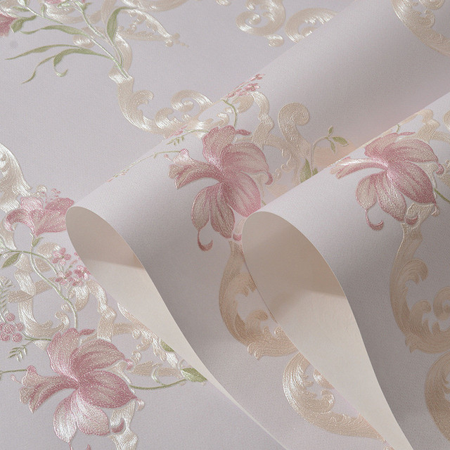 Rural Style Rustic Floral Wallpaper Non Woven Wall Paper For Bedroom Modern Design Living Room