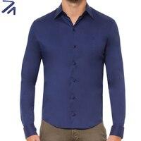DUDALINA Camisa Social Masculina Long Sleeves Dress Shirt Cotton Slim Fit Men Imported China Cotton Shirts