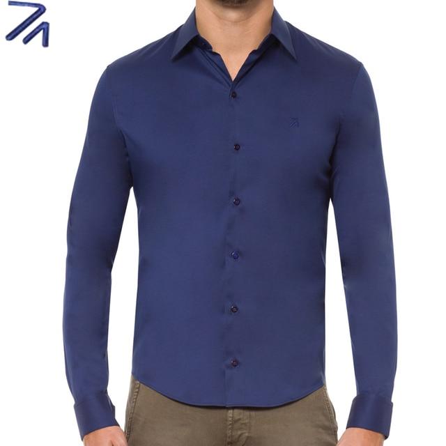 DUDALINA Camisa Social Masculina Long sleeves Dress Shirt Cotton Slim Fit Men imported-china Cotton Shirts 5XL