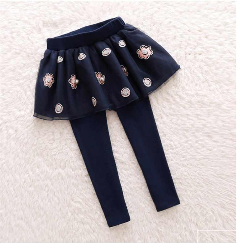 2018 ฤดูใบไม้ผลิสาวกางเกงบางเอว bloomers เด็กวัยหัดเดินผ้าพันคอ tracksuits การพักผ่อนหย่อนใจฟองกางเกงขายาวเด็กเสื้อผ้าผ้าฝ้ายเล็กๆ 2-8Y