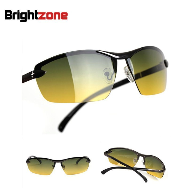 Men Day and Night Dual Function Sunglasses Night Driving Glasses Driver Glasses Nvgs Polarized Sunglasses Sports Eyewear
