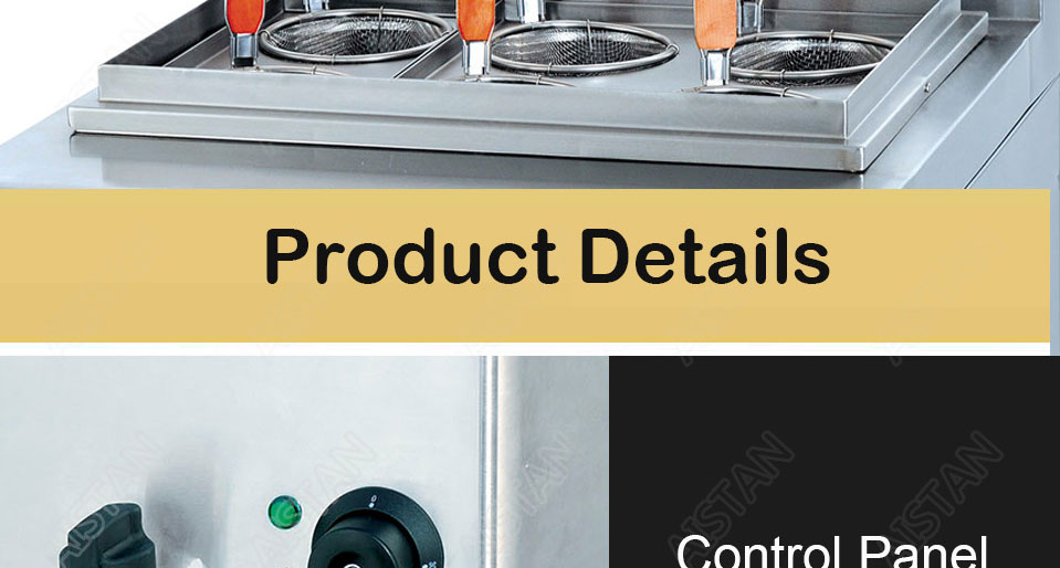 EH674  4-basket electric counter top pasta cooker for commerical use 15