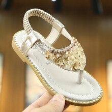 Хуан Neeky W#4 Новая мода для маленьких детей Детские кристалл для девушки Toepost эластичная лента обувь для принцессы сандалии лето Лидер продаж