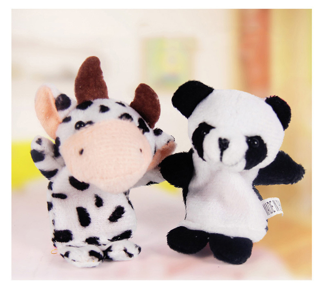 10pcs/Lot Cartoon Animal Velvet Finger Puppet Finger Toy Finger Doll Baby Cloth Educational Hand Story Baby Toy 3