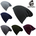 has solid color unisex mesh has winter warm& caps knitted wool hats for men and women casual cap ski  women men baggy Beanie Hat