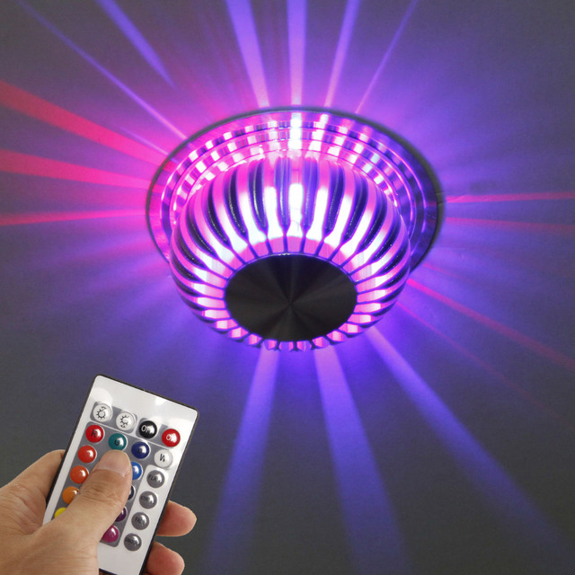 Ceiling Lamp Led Color Changing Light Remote Living Alu