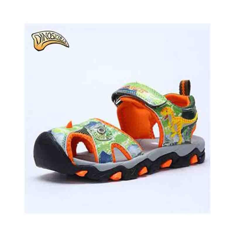 Dinoskulls Brand 2017 New Arrivals Kids Outdoor Beach Sandals Children  Sandals 3D Dinosaur Baby Shoes Boys Summer Sandals