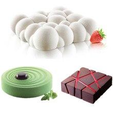3PCS Rooster Blok Wolken Rimpel 3D Mousse Cake Mallen Voor Ijs Crèmes Chocolade Cakevorm Pan Bakvormen Geometrische vormen