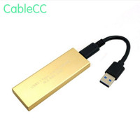 Gold USB C USB 3.1 Type C to M.2 NGFF PCI E 2 Lane SSD Enclosure for E431 E531 X240 Y410P Y510P