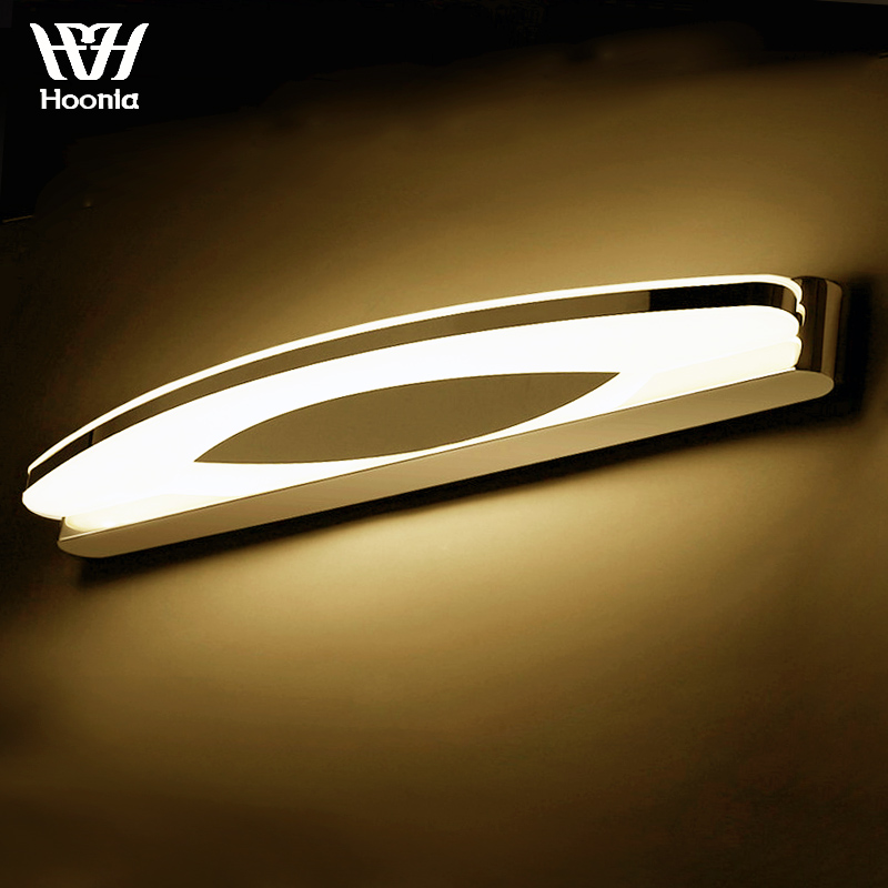 Free Shipping AC110 220V High Quality 8W LED Wall Lights Stainless Steel Wall Lamp Acrylic Lampshade Bathroom Mirror Lights