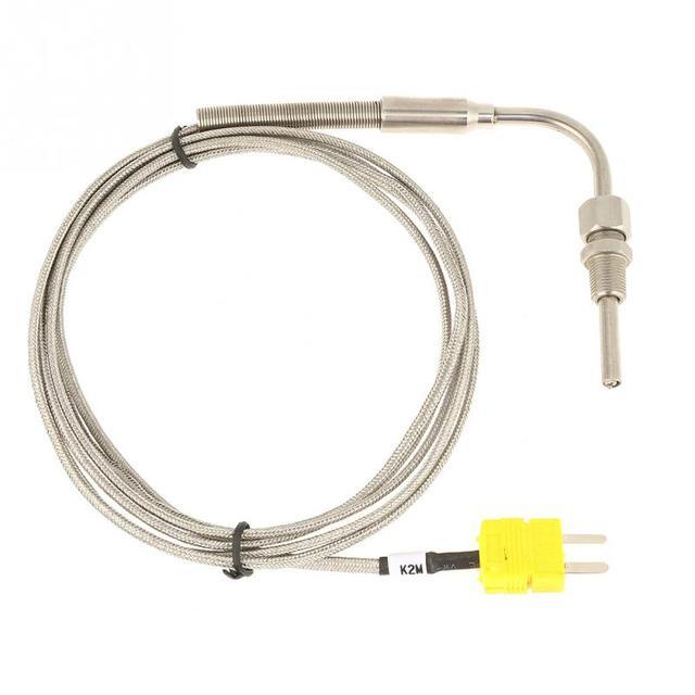Thermocouple EGT de Type 0-1250 degrés K pour sonde de température des gaz déchappement avec embout et connecteur exposés connecteur de Type Mini K