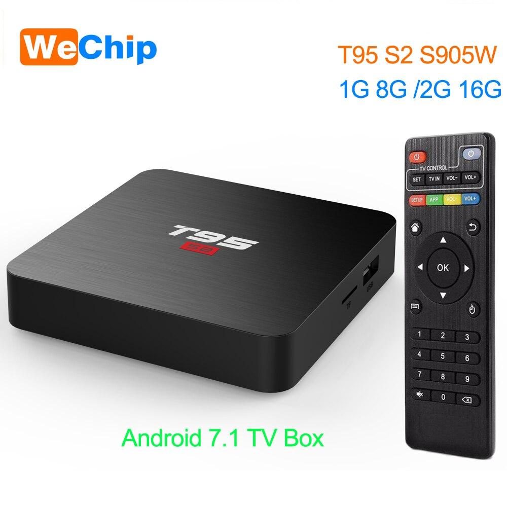 Wechip T95 S2 TV BOX Android 7.1 OS Smart TV Box 2GB 16GB Amlogic S905W Quad Core 2.4GHz WiFi Set top box 1GB 8GB T95S2 PlayerWechip T95 S2 TV BOX Android 7.1 OS Smart TV Box 2GB 16GB Amlogic S905W Quad Core 2.4GHz WiFi Set top box 1GB 8GB T95S2 Player
