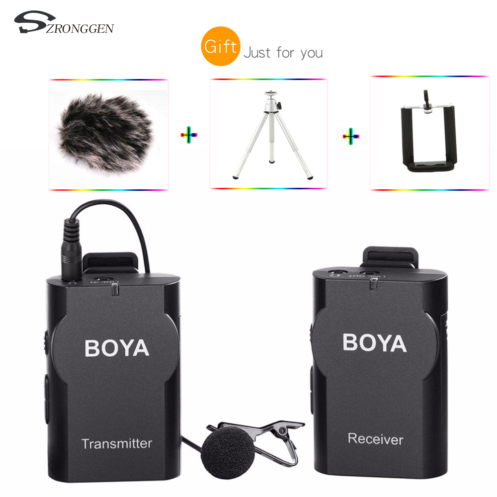 Boya BY WM4 Professional Wireless Microphone System Lavalier Lapel Mic for Canon Nikon Sony DSLR Camcorder