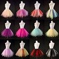 Dulces de colores multicolor falda tutú adulto stage rendimiento ropa de la danza de gasa saia mini falda faldas de tul falda