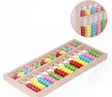 New Wooden Toy Big Size Montessori Baby Toy Beech Abacus Teaching Learning Educational Preschool Training Free Shipping