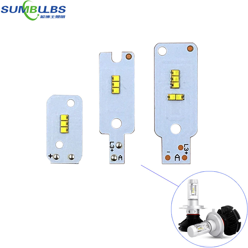 2pcs/lot LED ZES Chip For X3 Car Headlight Bulbs H1 H4 H7 H3 880 9005 9006 H11 H13 9004 9007 X3 Auto LED Headlamp Chip Accessory