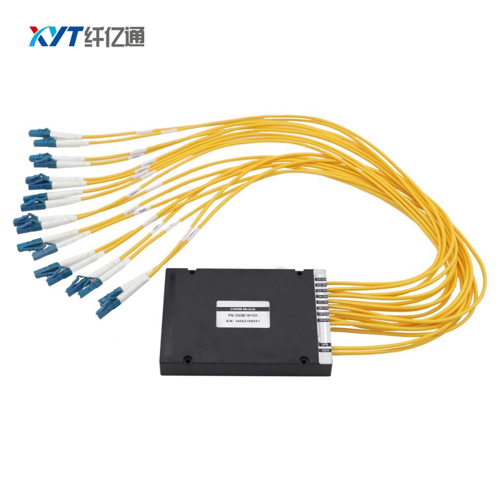 Attrezzature FTTH CATV TV Via Cavo In Fibra ottica Singola fibra 16 canali CWDM MUX e DEMUX connettore LC Multiplexer