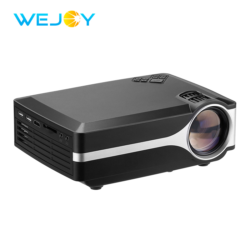 2018 Hot Wejoy LCD Projector L1 Multimedia System HD USB Video Digital Home Theater Portable Movie Pico LED Phone Mini Projector new h88 lcd led video micro multimedia projector home theater