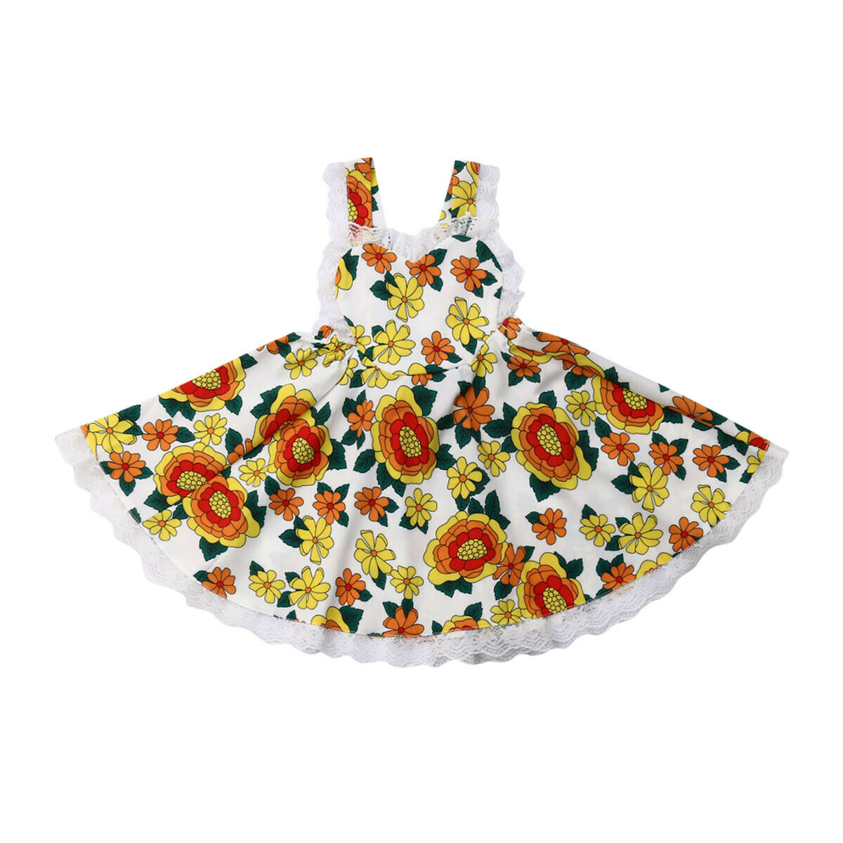 1-6Y Summer Toddler Kids Baby Girl Sleeveless Backless Lace Flower Dress Sundress Clothes1-6Y Summer Toddler Kids Baby Girl Sleeveless Backless Lace Flower Dress Sundress Clothes