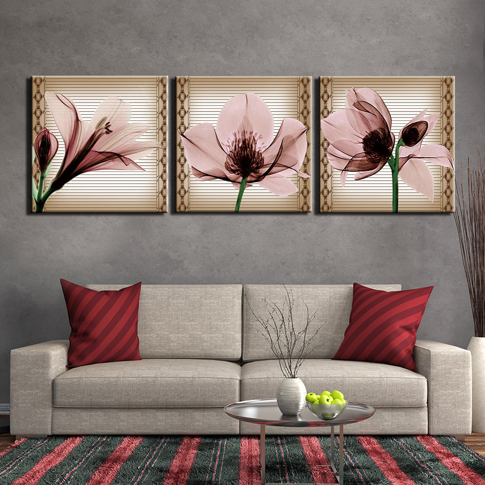 Fleur Pour Decoration Salon 3 panneaux nature morte fleurs affiches et impressions mur
