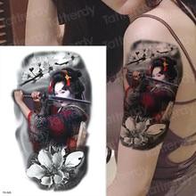2ee7fef37 large arm sleeve tattoo waterproof temporary tatto japanese samurai tattoos  japanese tattoo water transfer tatoo sticker