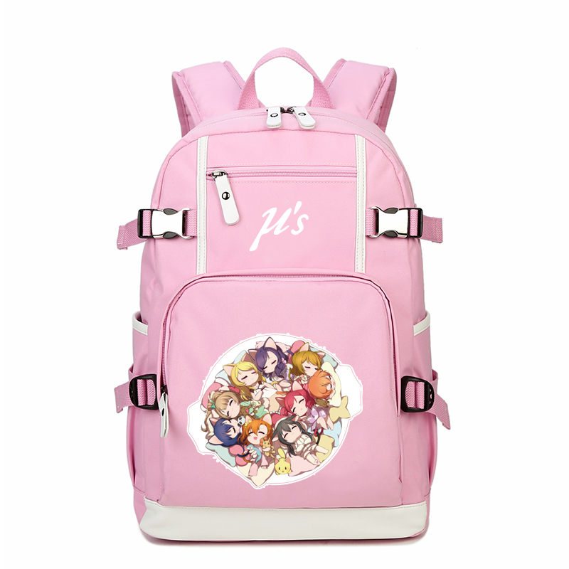 Cartoon LoveLive Women Backpack Kawaii Back Pack Minami Kotori Canvas School Bags Mochila Feminina Laptop Backpack