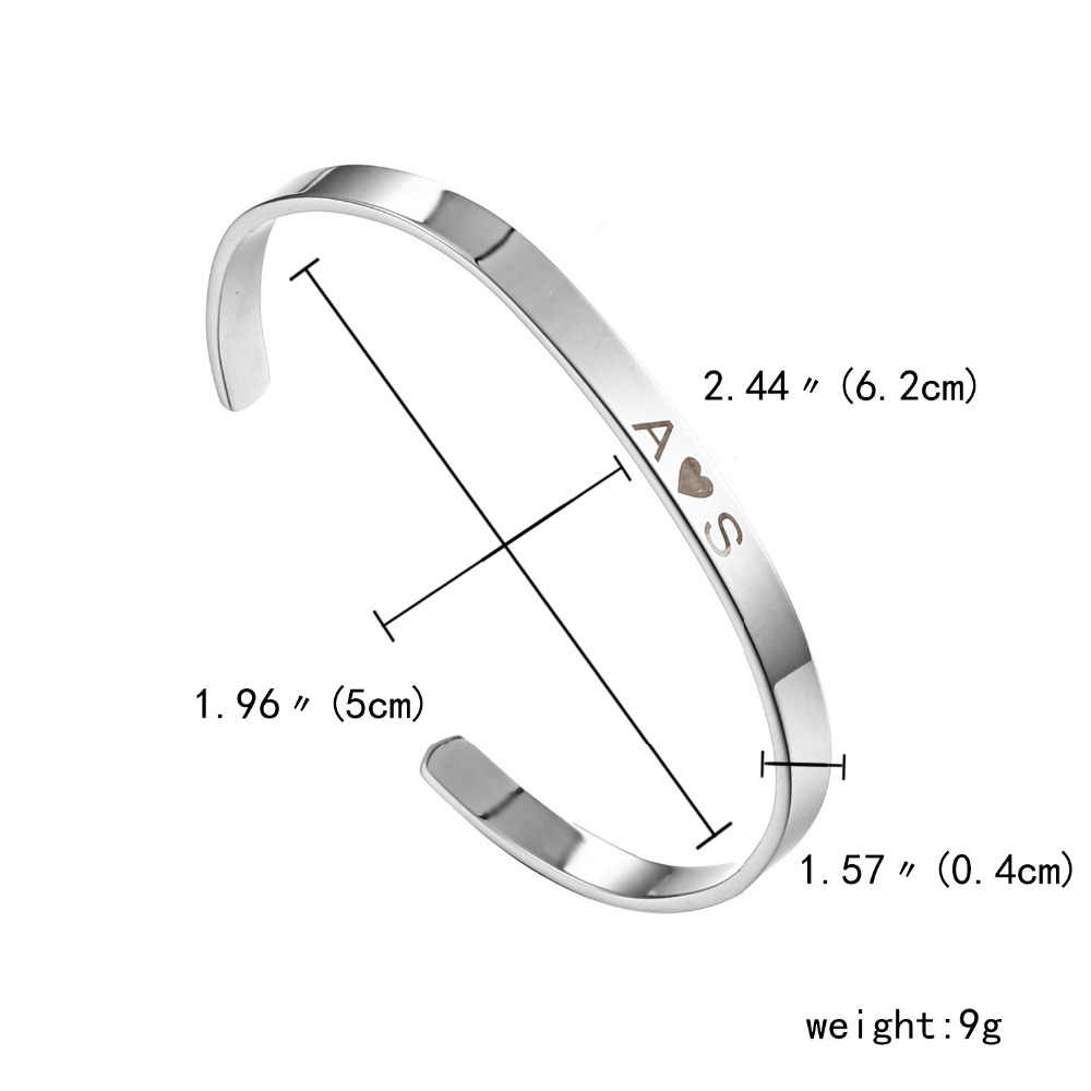 525f5d6535ba9 ... Stainless Steel Bracelets Charm Bracelets Free Engrave Bracelet  Customize Jewelry For Couples Women Men Beat Special