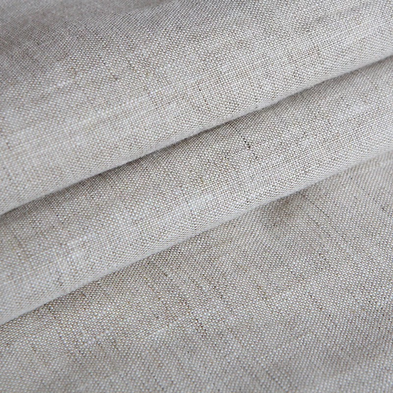 wholesale solid linen fabric meter natural flax linen fabric